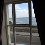 View of the Irish Sea from our room