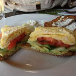 Farm fresh eggs with organic veggies & feta