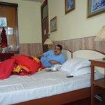 Enjoying Bed Tea ...at 6 am ...Room A