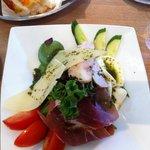 Salad with mozzarella, parma ham, chicken and parmesan!