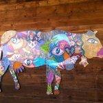 Une vache d'Anaka artiste de Servoz