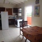 Kitchen, front door, table