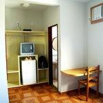 Apartamento espaçoso, com ar cond., TV e frigobar