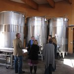 Joe explaining about all things wine in his winery!