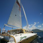 Sailing between St Kitts & Nevis