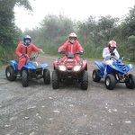 3 happy bikers