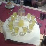Limoncello at Gina's birthday party!