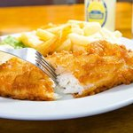 Freshly Beer Battered Haddock with Homemade Chips