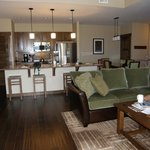 Spacious kitchen, dinning and family area.