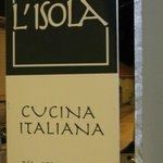 L'Isola sign