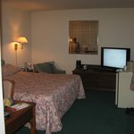 large t.v./and big room/big bed