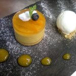 peach and chamomile mousse