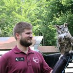 The Great Horned Owl with his friend Chris
