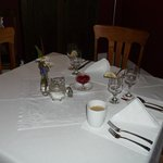 Crisp white table linens