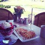 Delicious patio breakfast!