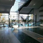 Entrance overlooking the pool area