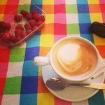 Breakfast - great coffee; buy local fruit at the market on the next street