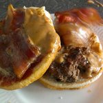 Peanut butter with bacon burger