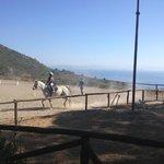 paardrijden met uitzicht op zee