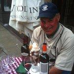 Enjoying Wine and Dessert