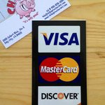 We accept Visa, Mastercard and Discover