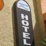Look for this sign, the motel can be tricky to find