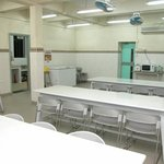 We have a canteen at the hostel and there is a self-catering kitchen connecting to it.