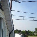 entrée electrique trop près du balcon