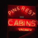 Pine Rest Cabins Vintage Neon