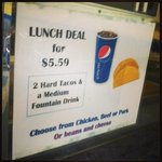 Great lunch deal!