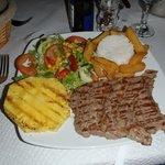 Steak and .....pineapple!