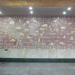 "Detail Metro Haltestelle ""Zhibek Zholy"""