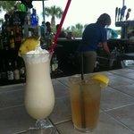 pina colada @pool-side bar
