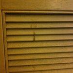 Sticky stain on wardrobe