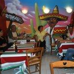 Costumers enjoying their meal