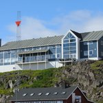 View of Qaqortoq Hotel from Harbor