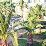 The hotel grounds