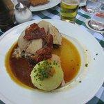 Pork with potato dumpling