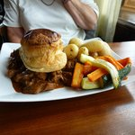 Angus Steak and Ale Pie main course