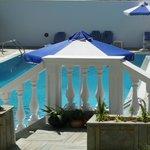 La piscine vue de ma terrasse