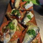 montadito de sardinas delicioso