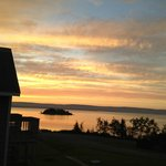 Sunset over Bras d'Or Lakes - view from our room