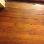 Paint-spattered room floor (dirty, also which cannot be seen in pic)