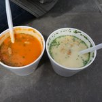 Tomato soup and Asparagus soup