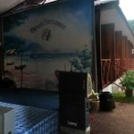 kareoke set? with stage? probably yes.