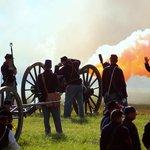 FIRE! Cannon blast from Union artillery.