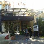 Entrada al hotel Park Inn Munchen East.