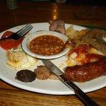 This was my Irish breakfast-lunch.