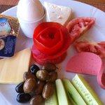 Breakfast at Serena Suites - turkish breakfast