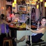 Luna Blue Swing Bar